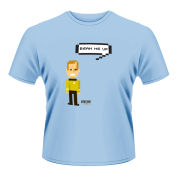 Star Trek Men's T-Shirt - Kirk Talking Trexel - Blue