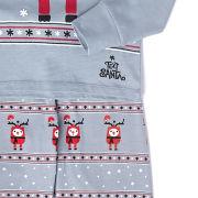 Text Santa Boys' Rudy Christmas Pyjamas - Grey