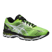 Asics Men's Gel-Nimbus 17 Cushioning Running Shoes - Flash Green/White/Black