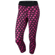 Nike Women's Printed Relay Cropped Tights - Pink