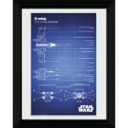 Star Wars X - Wing Blueprint - 30 x 40cm Collector Prints