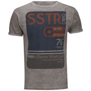 Soul Star Men's Washlab T-Shirt - Light Burgundy