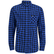 Rip Curl Men's Dropped Long Sleeve Check Shirt - Blue/Black