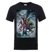 Marvel Avengers Assemble Team Montage Men's T-Shirt - Black