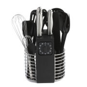 Russell Hobbs Deluxe 19 Piece Knife and Utensil Set - Black/Stainless Steel