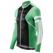 Skins Cycle Long Sleeve Jersey - Gottardo - Green/Black/White
