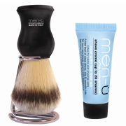 men-ü DB Premier Synthetic Bristle Shaving Brush with Chrome Stand - Black
