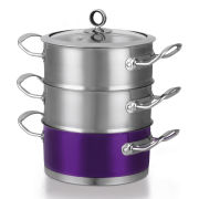 Morphy Richards 46383 3 Tier Steamer - Plum - 18cm