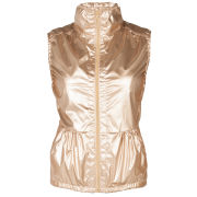 Lija Women's Run Gilet - Metallic Gold