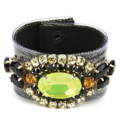 Matthew Williamson Opulent Jewelled Cuff - Black