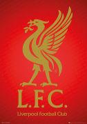 Liverpool Crest - Metallic Poster - 47 x 67cm