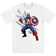 Captain America Men's T-Shirt - White Shogun Design