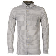 Boxfresh Men's Caeley Long Sleeved Striped Shirt - Blue