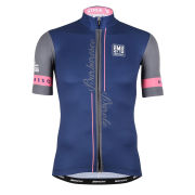 Giro Ditalia 2014 Stage 12 Barbaresco-Barolo Short Sleeve Full Zip Jersey - Blue