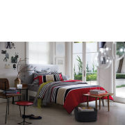 Sheridan Rafferty Cotton Duvet Cover - Red Stripe - (260x220) Super King Super King Red
