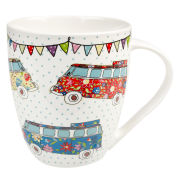 Caravan Trail Crush Mug Festival Campers (500ml) - Multi