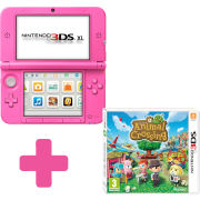 Nintendo 3DS XL Pink Console + Animal Crossing: New Leaf