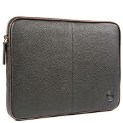 dbramante1928 Leather Case for up to 16 Inch Laptops and Notebooks - Black with Brown Piping