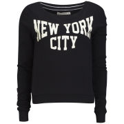 Brave Soul Women's New York Sweatshirt - Black