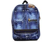 Mojo Denim Jeans Backpack - Blue