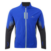 RonHill Men's Advance Mistral Running Jacket - Cobalt/Black