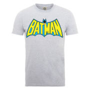 DC Comics Men's T-Shirt - Batman Retro Logo - Heather Grey