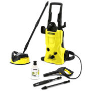 Karcher - K4 Home Pressure Washer with T250 Patio Cleaner