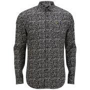 Farah Vintage Men's Gill Long Sleeve Shirt - Black
