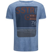 Soul Star Men's Washlab T-Shirt - Blue