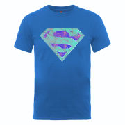 DC Comics Men's T-Shirt - Superman Glass Logo - Royal Blue