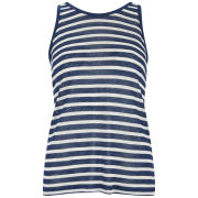 T by Alexander Wang Women's Stripe Linen Tank Top - Marine