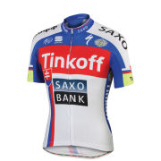 Tinkoff-Saxo Slovakian National Champion Short Sleeve Jersey - Blue