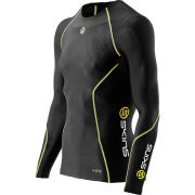 Skins A200 Active Compression Long Sleeve Top - Black/Yellow