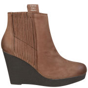 CK Jeans Women's Suzie Wedges - Dark Brown