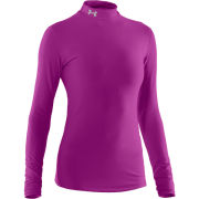 Under Armour Women's Coldgear Compression Mock Long Sleeve Top - Strobe/Silver