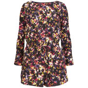 Neon Rose Women's Blur Print Playsuit - Multi
