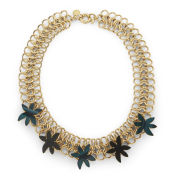 Marc by Marc Jacobs Palm Choker Necklace - Gold/Green