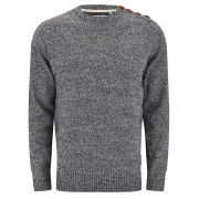 Brave Soul Men's Turgenev Twist Knitted Jumper - Navy/Grey