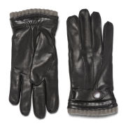 Knutsford Men's Cashmere Lined Deerskin Leather Gloves - Black