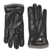 Knutsford Men's Cashmere Lined Deerskin Leather Gloves - Black