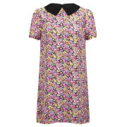 Girls On Film Women's Floral Tunic Collar Dress - Multi