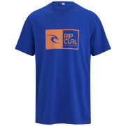 Rip Curl Men's Ripawatu Logo Short Sleeve T-Shirt - Blue/Orange