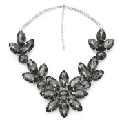Impulse Women's Flower Gem Necklace - Green