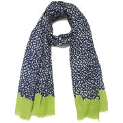 Paul's Boutique Tiger Print Scarf - Navy/Lime