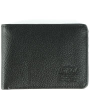 Herschel Hank Leather Wallet - Black Pebbled Leather