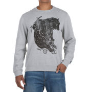 Animal Men's Crew Sweat - Light Grey/Marl