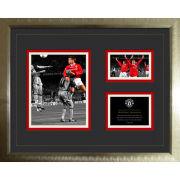 "Manchester United Historic Moments Sheringham - High End Framed Photo - 16"""" x 20"""