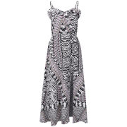 Influence Women's Tribal Print Maxi Dress - Black