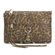 Rebecca Minkoff Women's Mini Mac Leather Cross Body Bag - Leopard