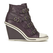 Ash Women's Thelma Leather Wedged Trainers - Prune